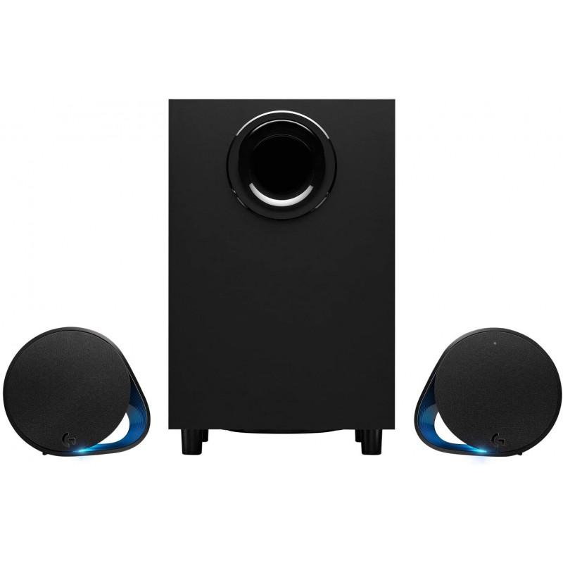 로지텍 G560 PC 게이밍 스피커 - RGB 싱크로니즈 조명이 있는 사운드 서라운드 DTS:X 울트라© 게임에, 단일상품, 단일상품