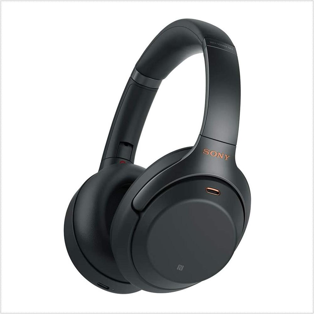 소니 노이즈 캔슬링 헤드폰 WH1000XM3, Black