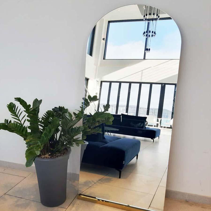 JBY 대형 와이드 스탠드 아치형 전신거울, 800x1800