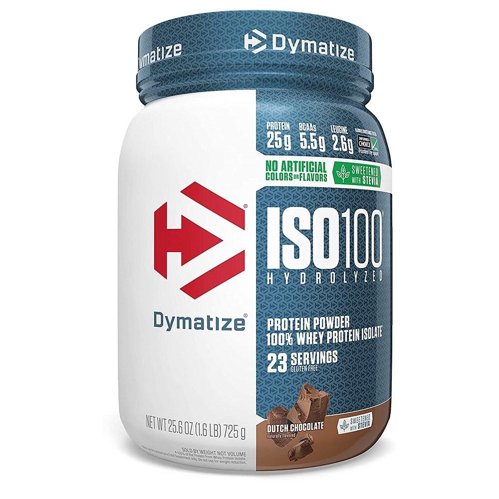 Dymatize 다이마타이즈 더치 초콜렛 웨이 프로틴 ISO100 Whey Protein Dutch Chocolate 725g, 1개, 1