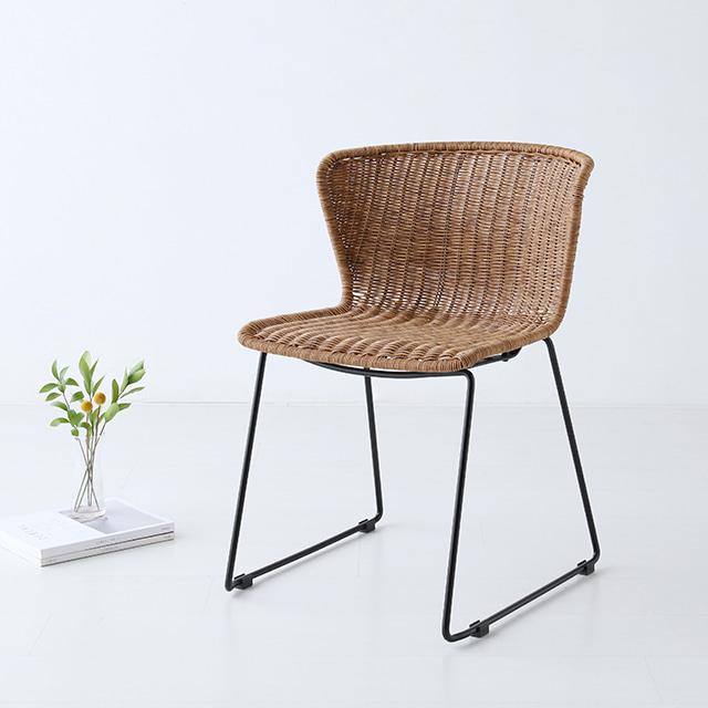 마켓비 ALOTA 의자 라탄 VS9206 인테리어의자, 내추럴