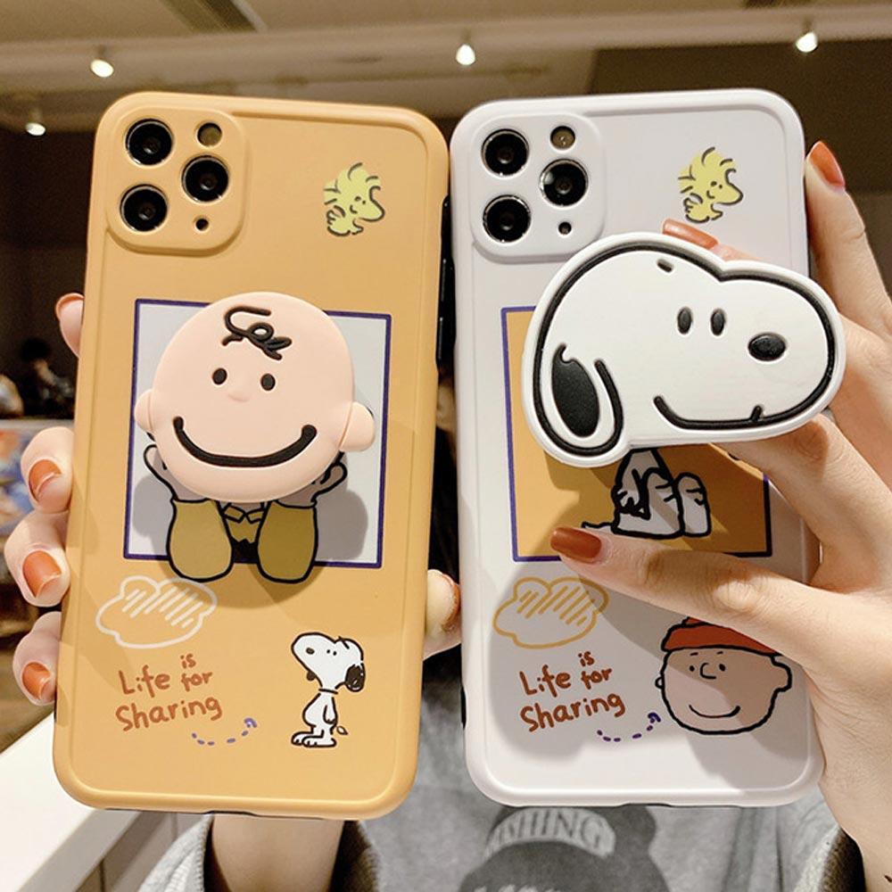 아이폰 12 11 프로 XR 8 SE2 소년 댕댕이 우정 그립톡 카메라렌즈 보호 실리콘 케이스