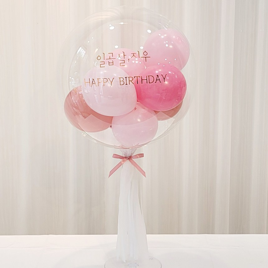 연지마켓 DIY 레터링풍선 용돈풍선 헬륨 효과 커스텀버블벌룬 파티 졸업 입학 축하 셀프 생일 선물 환갑, 4. 핑크로즈 18인치