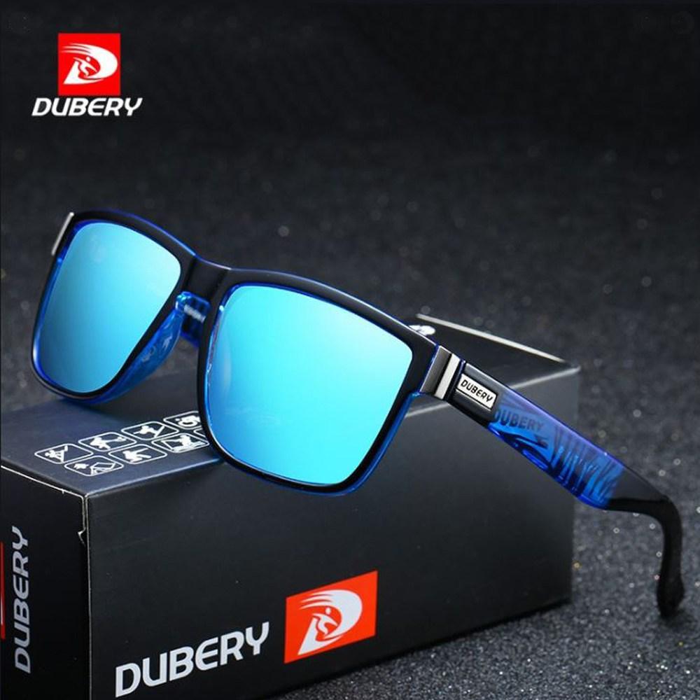 DUBERY D518 선글라스 8종선택 편광미러렌즈 레저 라이딩 낚시 등산 자전거 남녀공용, 2. blue