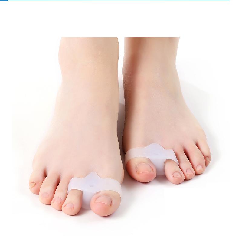 무지외반증 교정기 발가락링 실리콘 발가락교정기 성인용 남녀공용, 화이트2켤레