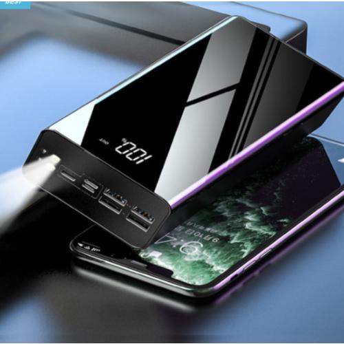 샤오미 대용량 보조배터리 50000mAh 휴대용 노트북 캠핑용 차박 군대 차박용 배터리, 블랙