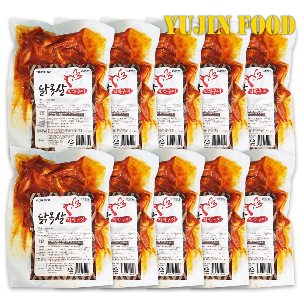 유진푸드 유진 닭목살 직화구이 200g 10개, 단품