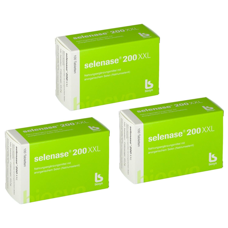 [독일배송] biosyn selenase 셀레나제 200xxl 100정, 3개