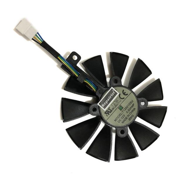 90MM (85 MM) PLD09210S12HH T129215SU VGA GTX1080TI GTX1070 그래픽 쿨러 팬 ASUS GTX 1080TI/980Ti/107, 14 C Fan T129215SU
