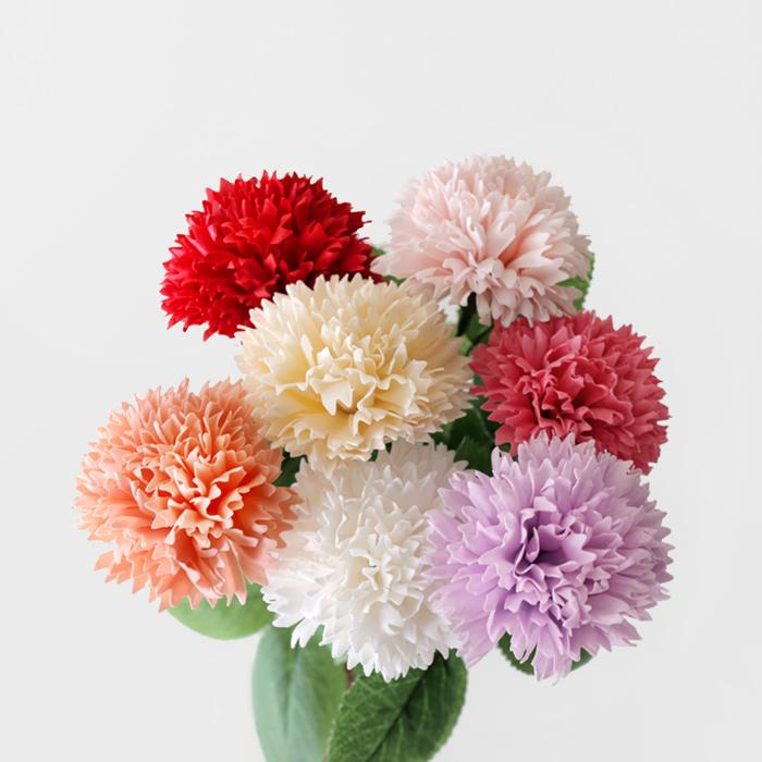 블루밍앤미 NEW 카네이션 비누꽃 (soapflower)-1P, 레드