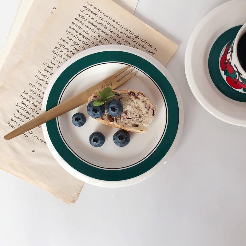 빈티지 아라비아핀란드 키르시카 체리컵, 접시