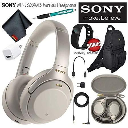 헤드셋 Sony WH-1000XM3S Wireless Bluetooth Noise-Canceling Over-Ear Headphones (Silver) Essential C, 상세 설명 참조0, Silver