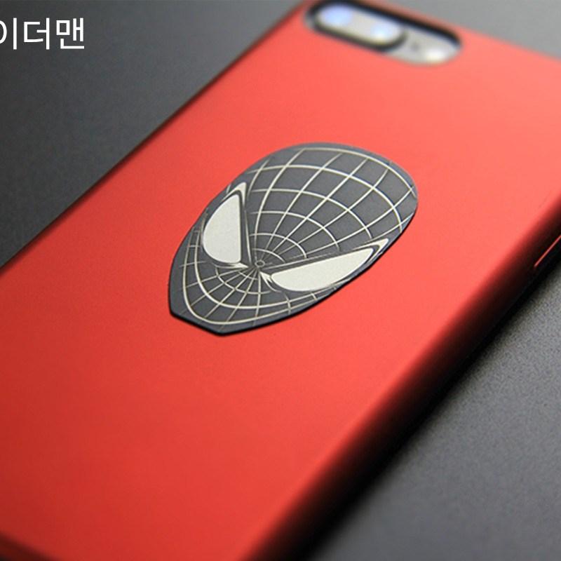 코딩 히어로 스마트폰 마그네틱 자석 디자인 철판 플레이트, 01. 스파이더맨, 1개