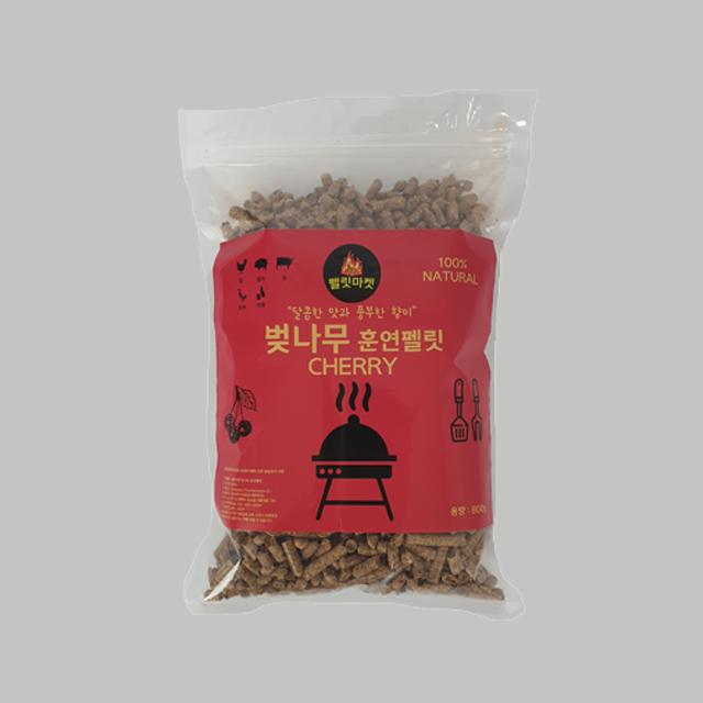 샹그릴라 바비큐 체리(벚나무) 훈연펠릿 훈연칩 훈연톱밥 훈연청크 스모크우드, 1개, 800g