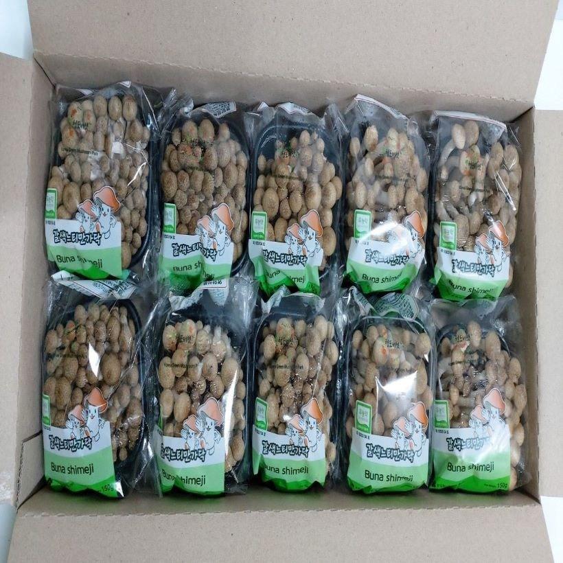 만가닥버섯(갈색) 은 농산물도매시장에서 당일 경매를하여 낙찰받은 신선하고 품질우수한 상품만을 고객님께 전해 드립니다, 10봉, 150g