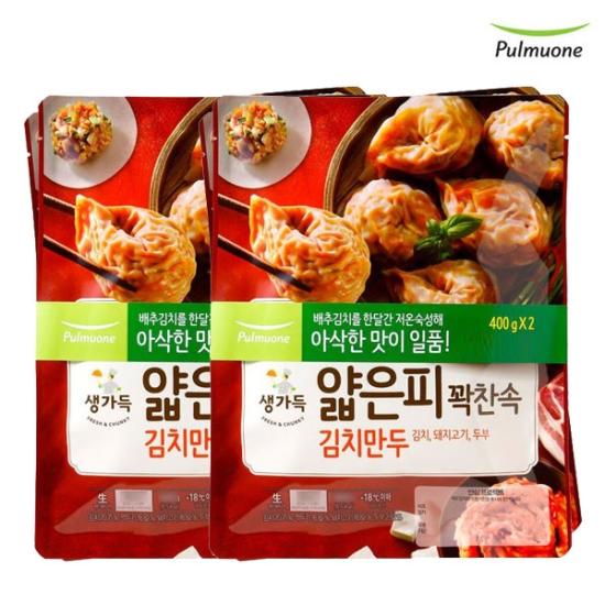 [K쇼핑]풀무원얇은피만두 김치(440gx4봉), 단일상품