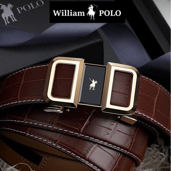 WilliamPOLO(윌리엄폴로) 19540P 명품소가죽 남성벨트 정장벨트 남자벨트 폴로[polo양말증정]