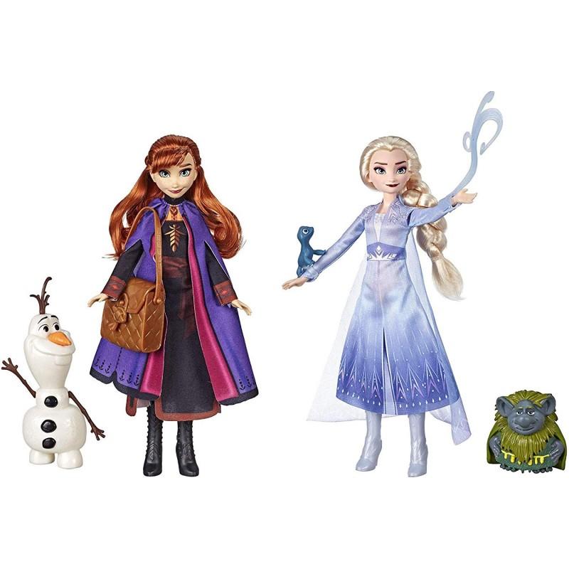 겨울 왕국 2 디즈니 엘사  아나 세트 일본 미발매 285㎝ 인형 도롱뇽 빠비 공주 올라프 병행 수입품