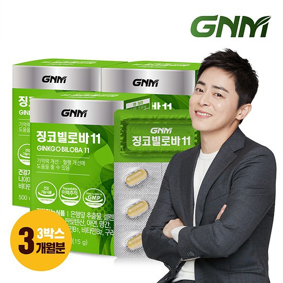 GNM자연의품격 징코 빌로바11 은행잎추출물 3박스 총 3개월분, 상세설명 참조, 징코빌로바 3박스