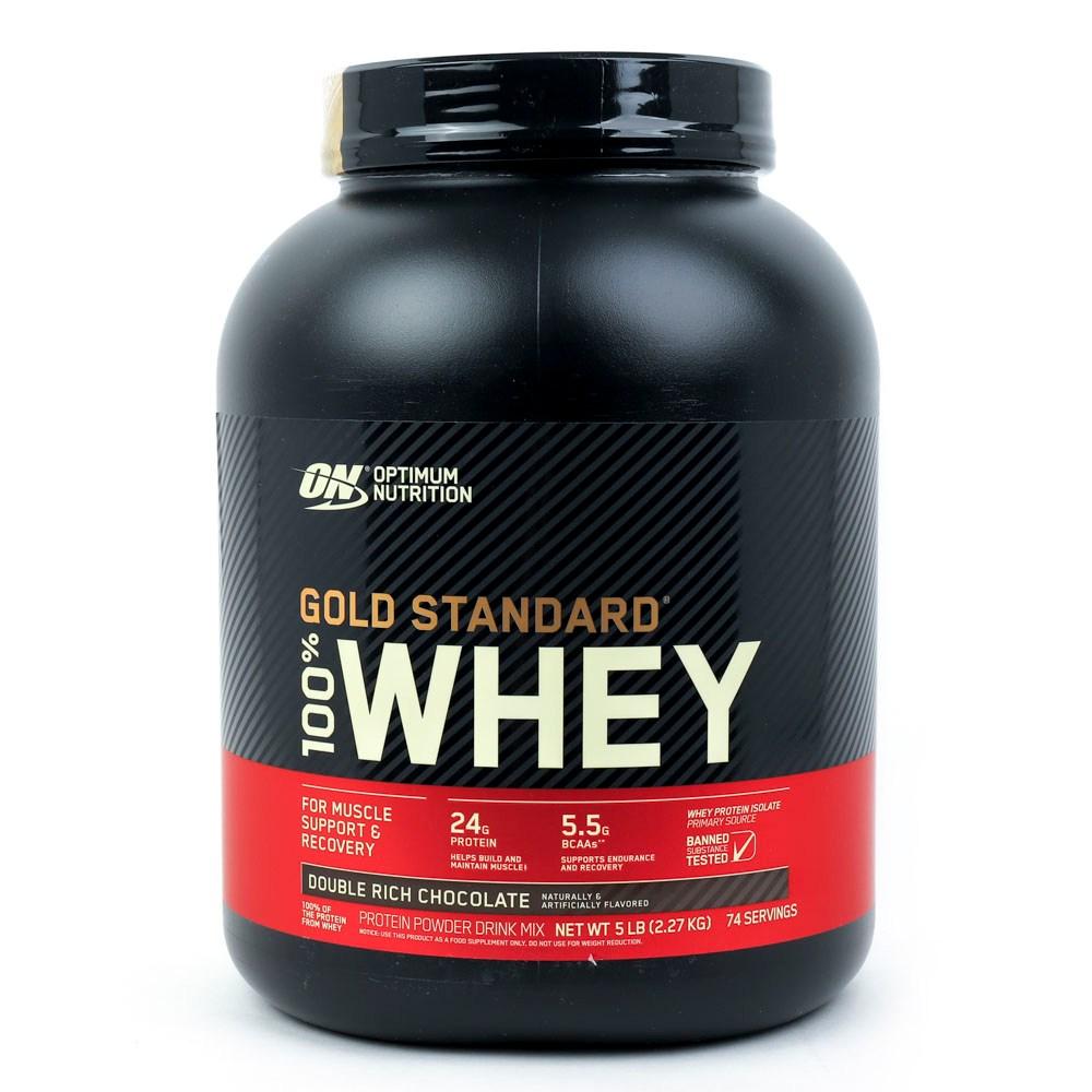 옵티멈뉴트리션 골드 스탠다드 웨이 프로틴 아이솔레이트 단백질 보충제 더블 리치 초콜릿, 2.27kg, 1개