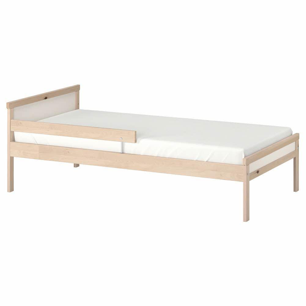 침대프레임+갈빗살 자작나무 SNIGLAR 70x160 cm