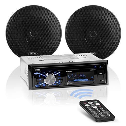 BOSS 오디오 Systems 656BCK 차량용 스테레오 패키지-단일 소음 블루투스, 상세내용참조