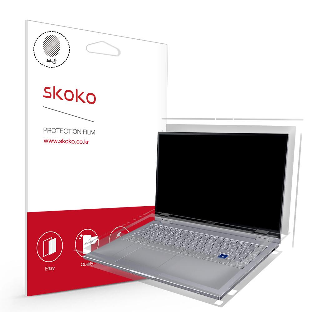 스코코 갤럭시북 플렉스 알파 15인치 NT750QCR NT750QCJ 무광 전신 외부보호필름 4종, 단품