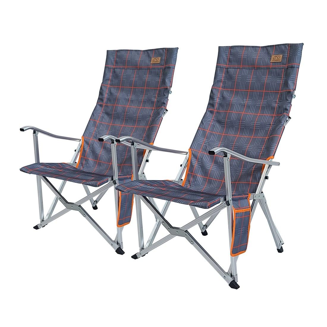 넘버엔 1+1 폴딩 릴렉스 체어 프로 접이식 캠핑 의자, 네이비+네이비