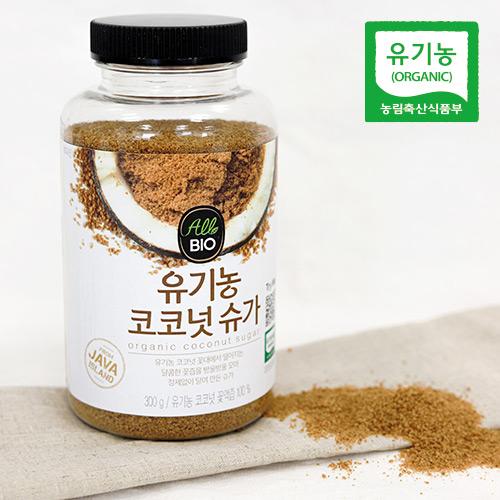 [올바이오] 유기농 코코넛 슈가(300g PE병)/ 100% 코코넛 꽃액즙/ 비정제 설탕