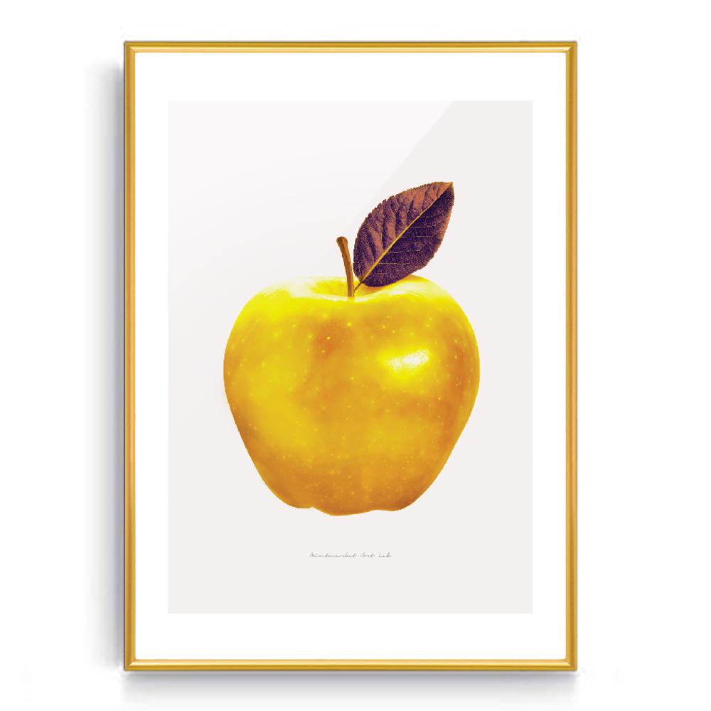 숑숑몰마켓 [소형사이즈]풍수사과액자 액자, 황금색