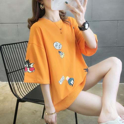 [여성패션] 이스트루트 심플 캐릭터 라운드티 오버핏 반팔 티셔츠 - 랭킹72위 (10000원)