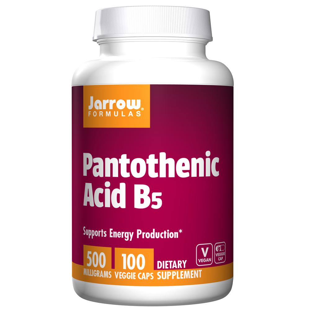JARROW 판토텐산 B5 100정 Pantothenic Acid 500 mg 100 VEG CAPSULES, 1개