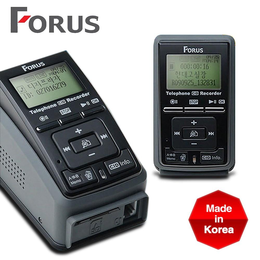 MO 포러스 자동전화녹음기 FSC-1000 일반전화 인터넷폰 키폰 전화 녹음기 CID 발신번호표시 안내멘트, FSC-1000 32G