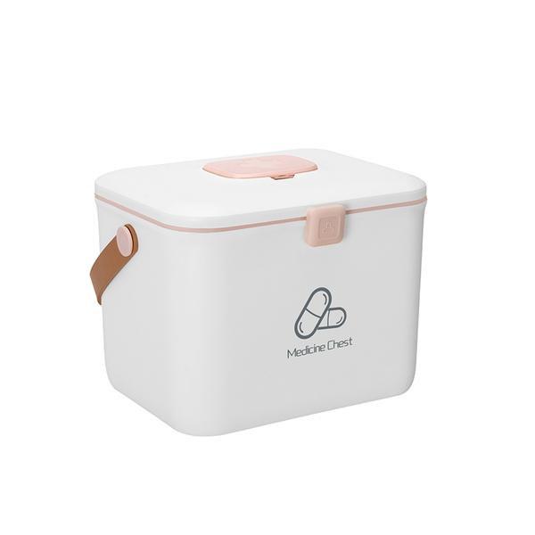 공간누리 약보관함 약정리함 비상약품 다이소 구급상자 구급함, 북유럽 흰색 더블 레이어 (POP 1377194631)