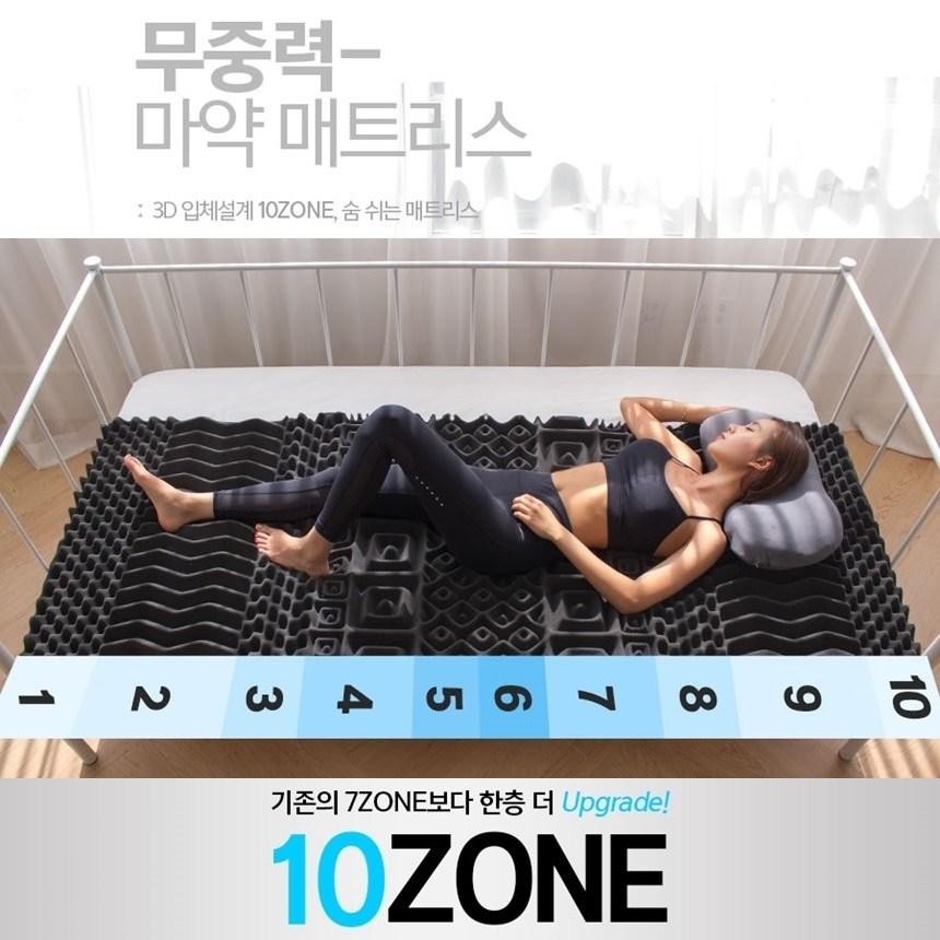 푹잠매트리스 싱글 퀸 사이즈 무중력 마약 매트리스, 블랙