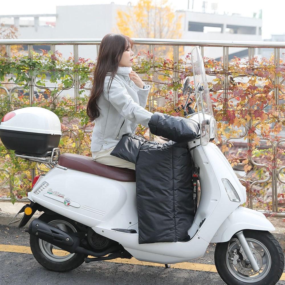 코카허니 오토바이 방한복 방한용품 스쿠터 워머 장갑 바람막이, 블랙워머+글러브