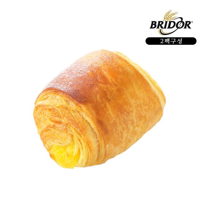 브리도 냉동 생지 빵 베이커리 크로아상 에어프라이어 오븐 간편식 먹거리 미니커스타드 20개입, 2팩, 40g