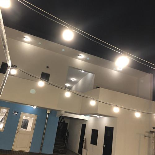파티라이트 방수 LED 램프 포함 스트링 캠핑 카페 야외 조명, 방수 11M10구+8W전구색(노란빛) 10개