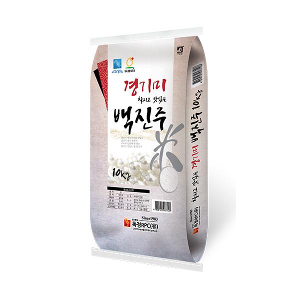 [20년산] 경기미 찰지고 맛있는 백진주 10kg, 1포