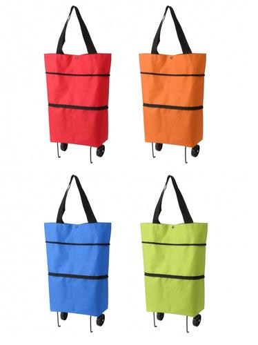2WAY 컬러 쇼핑카트 시장바구니 캐리어 장보기가방 다용도 장바구니, 2. 오렌지