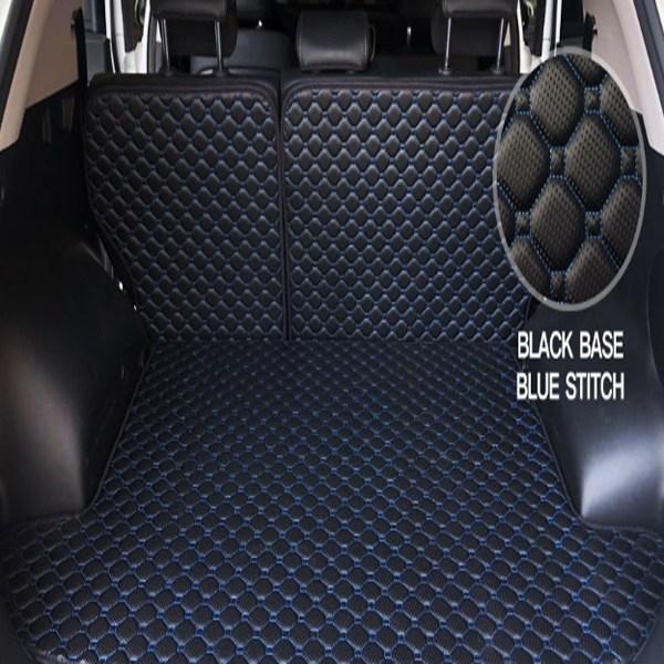 마콤 가죽 트렁크매트 쏘렌토MQ4 발판 캠핑 풀세트 커버 차박전용, QM6 LPG, 블랙-블랙