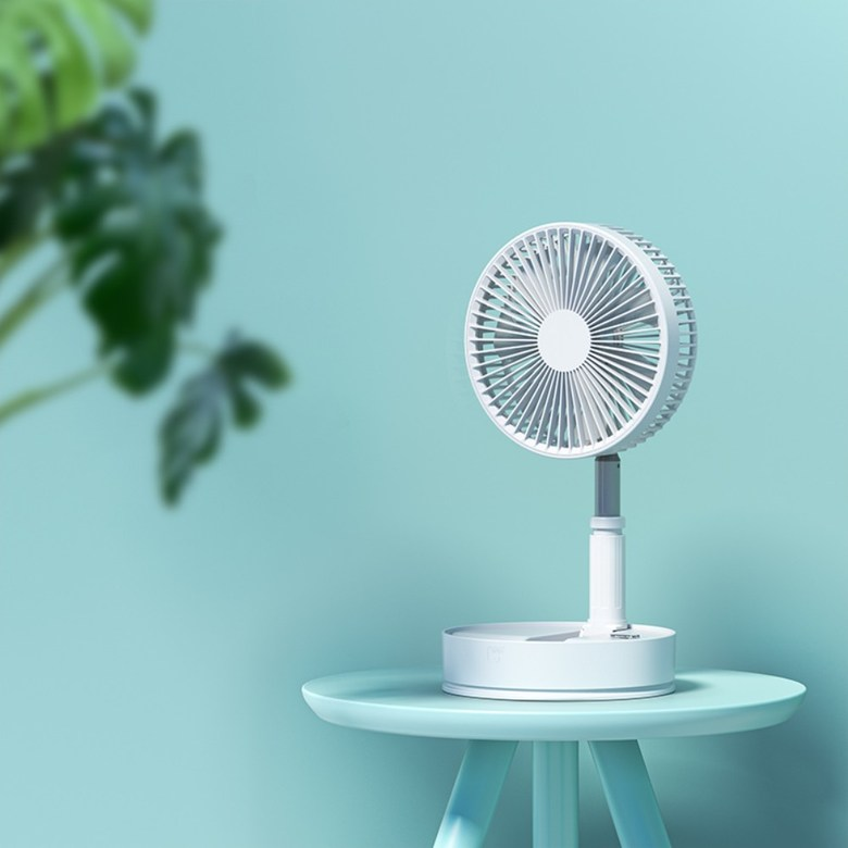 샤오미 4세대프로 무선 선풍기 접이식 무소음 스탠드 써큘레이터, 화이트 길이조절가능 회전가능+리모컨 (POP 5624364071)