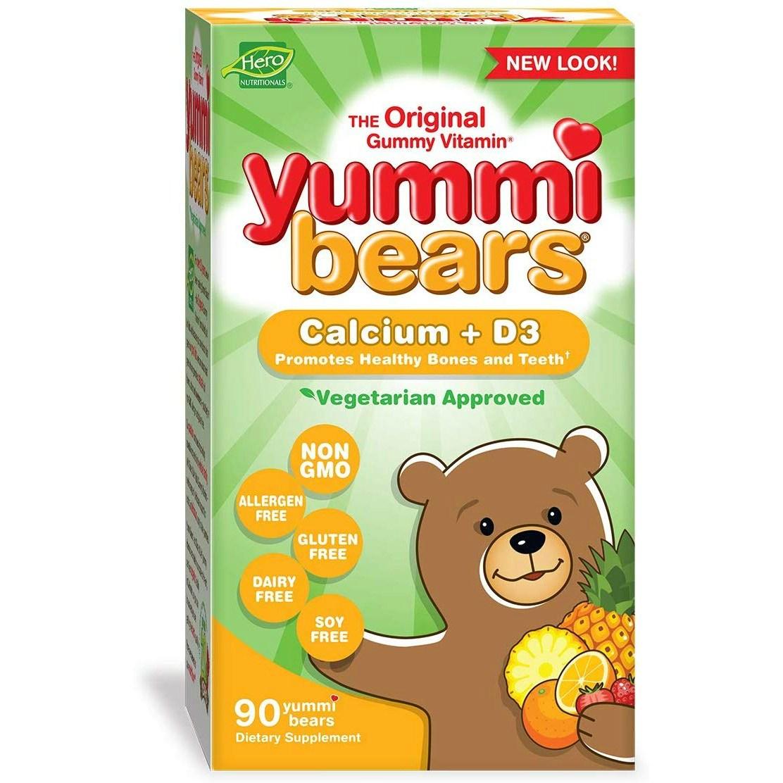 히어로뉴트리셔널프로덕츠 야미 베어 칼슘 + 비타민 D3 구미 베어, 90개입, 1개