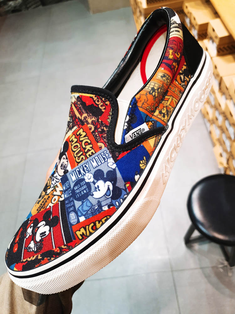 반스 올드스쿨 슬립온 미키마우스 신발