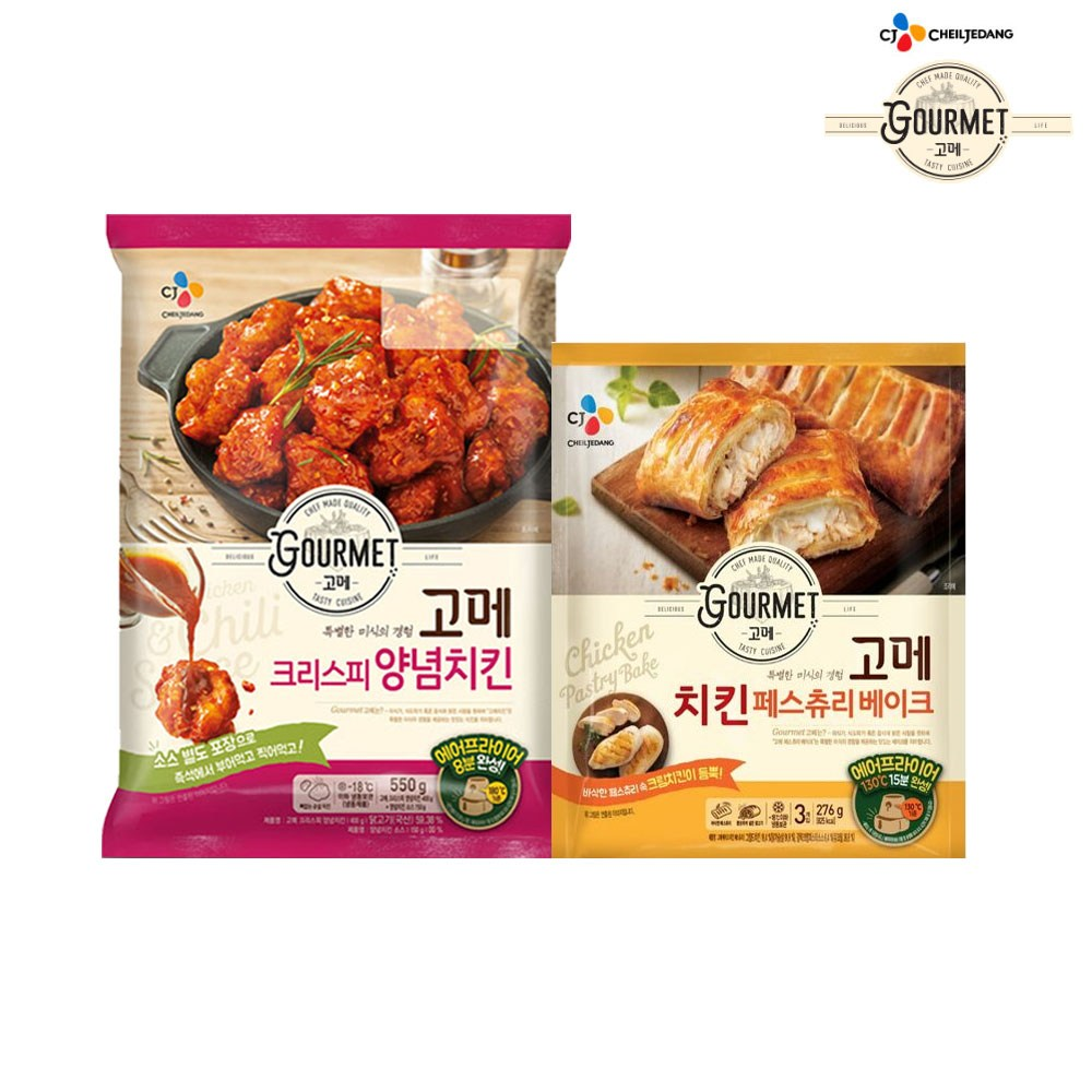 (냉동)고메 크리스피 양념치킨 550gx1개 +치킨페스츄리베이크276gx1개, 1세트