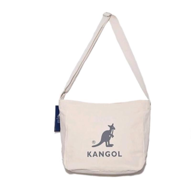 한국어 정품 KANGOL 캥거루 TOTE BAG 캐주얼 한 어깨 메신저 백 나쁜 가방 인 복고풍 캔버스 가방