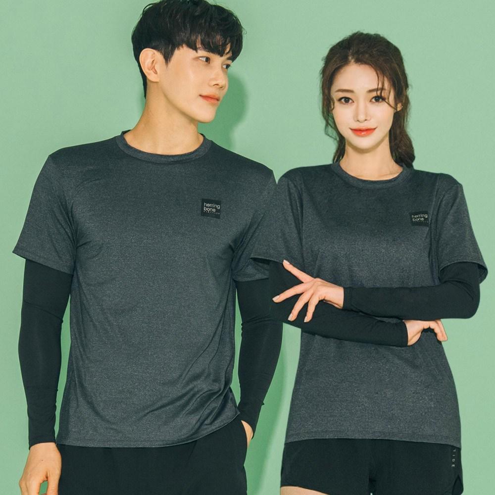 헤링본 남자 여자 래쉬가드 수영복 루즈핏 비치웨어 휴양지바캉스룩 빅사이즈 RC104