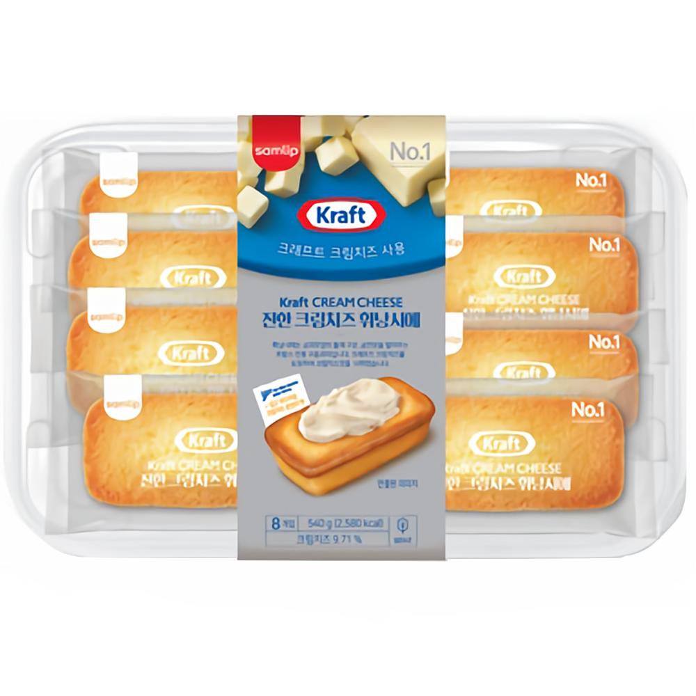삼립 진한 크림치즈 휘낭시에 36g 8개 (1팩) 크래프트 삼립빵, 1팩
