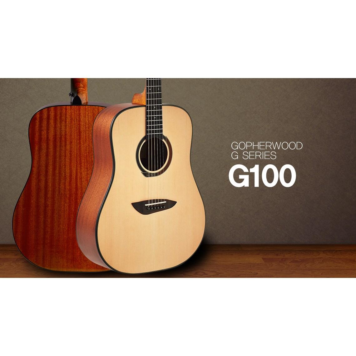 고퍼우드 G100 통기타 입문용 가성비 기타 Gopherwood, 무광 NS