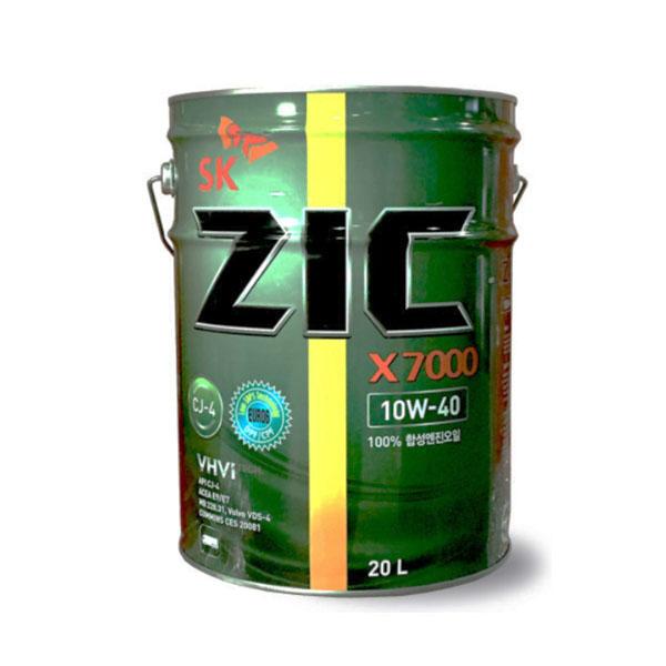 ZIC X7000 10W40 CJ4 20L 디젤 엔진오일, 1개, 지크 X7000 10W40_20L